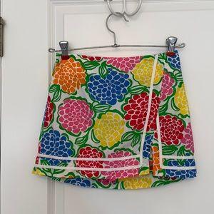 Lilly Pulitzer Multi-Color Floral Skort